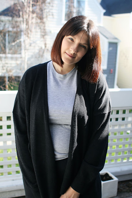 AllSaints, Everlane, AAselfie, OOTD, Winter, Merino wool, Postpartum, New Mom, Weight loss,