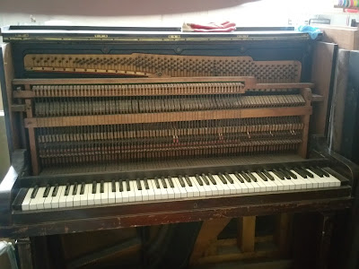 Converting an upright piano to an electronic midi piano