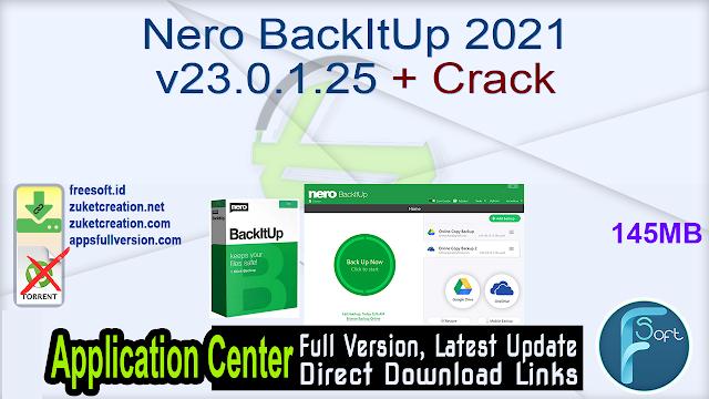 Nero BackItUp 2021 v23.0.1.25 + Crack