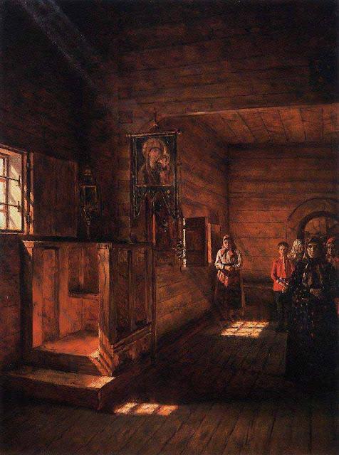 Василий Васильевич Верещагин - Внутренний вид церкви Иоанна Богослова на Ишне близ Ростова Ярославского. 1888