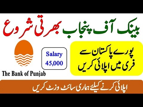 Bank of Punjab Jobs 2020 Online Apply