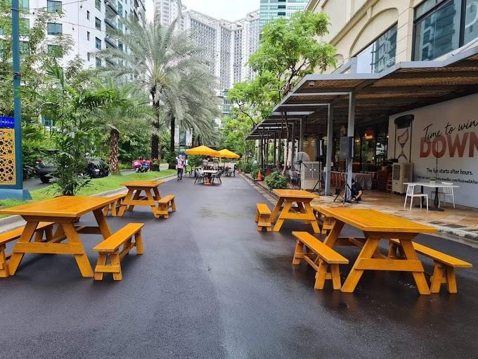 Kalsada sa Makati isinara para sa outdoor dining