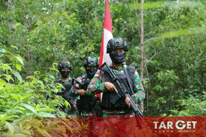 Jaga Perbatasan Ditengah Covid-19, Satgas Yonif 411 Kostrad Giatkan Patroli di Batas Negara