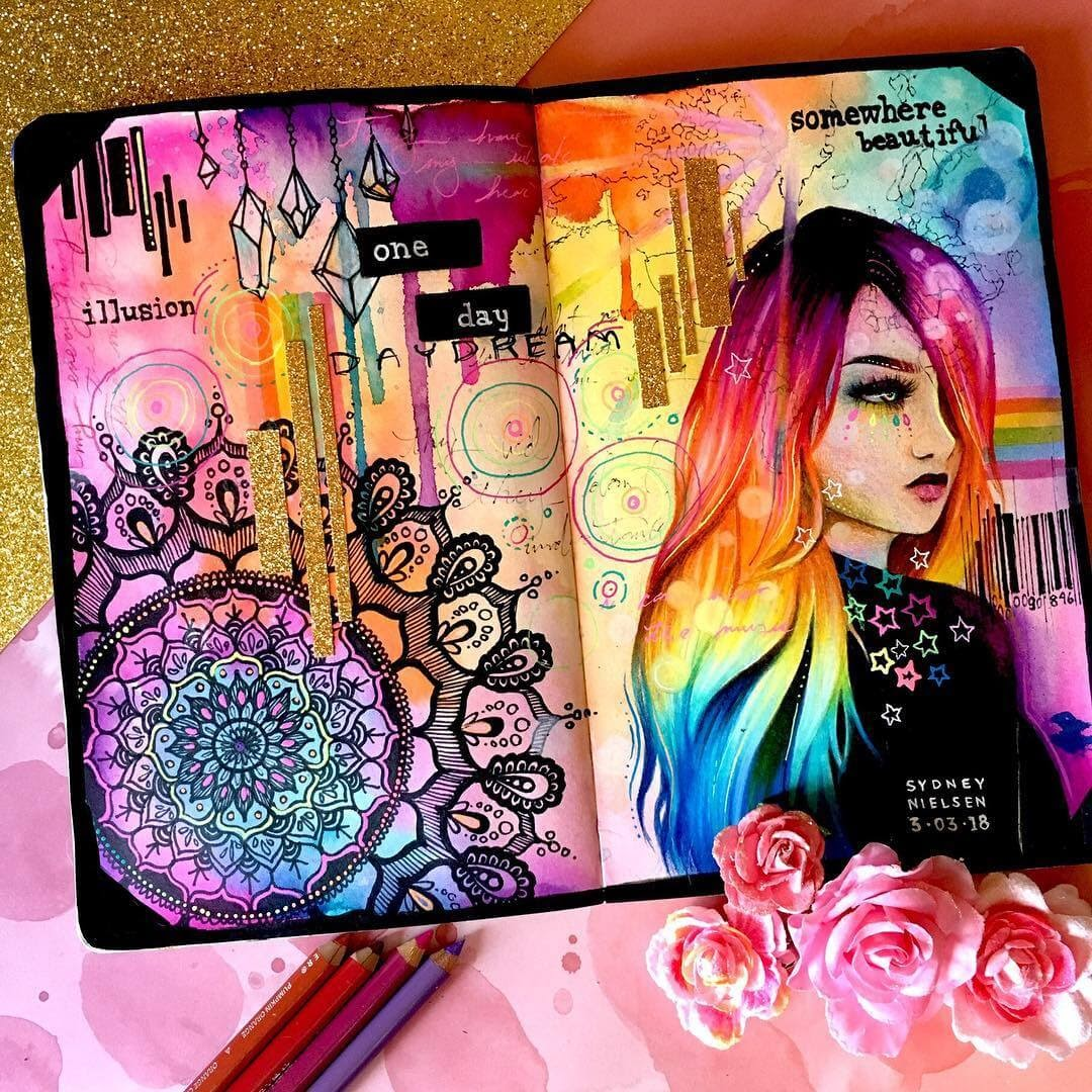 08-Mixed-Media-Journal-Artwork-Sydney-Nielsen-How-Colors-Change-the-Portraits-you-Draw-www-designstack-co
