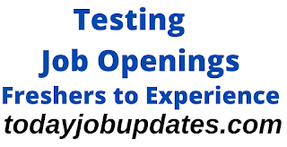 Testing Jobs For Freshers to Experience| 12th Aug 2020