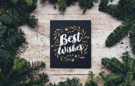 Mockup kartu ucapan natal gratis