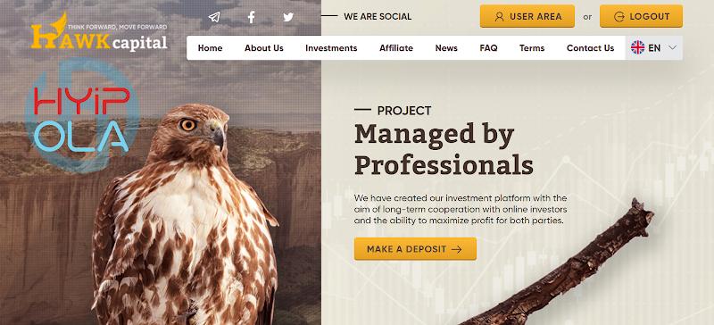 [SCAM] Review Hawk Capital - Dự án chiến nhanh với lãi 7% hằng ngày - Thanh toán tức thì