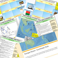 Southeast Asia Digital Escape Room Southeast Asia Geography Vocabulary All About Southeast Asia Activity Mapping Southeast Asia Activity  Physical Geography of Southeast Asia Activity Timeline of Southeast Asia Activity