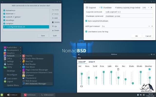 NomadBSD USB OS