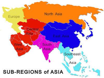 Continents Meaning In Hindi asia map