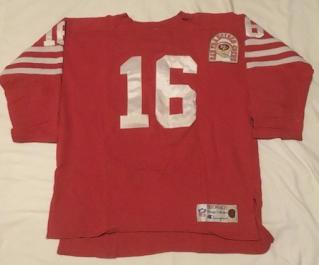 San Francisco 49ers Joe Montana Champion Throwbacks jersey