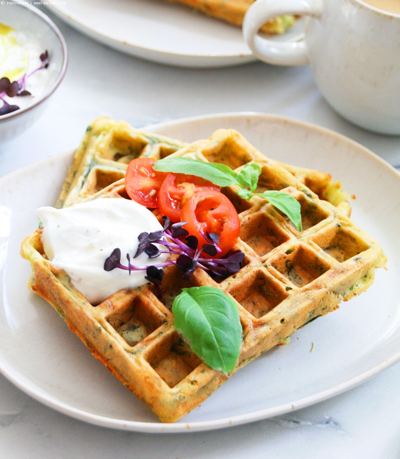 spinach cheese waffles