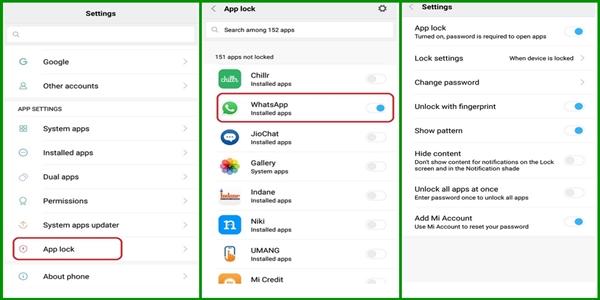 Cara Mengunci WA di Xiaomi Tanpa Aplikasi