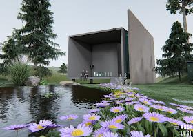 Desain Ruang Tepi Air: Sebuah Eksperimen Render Animasi