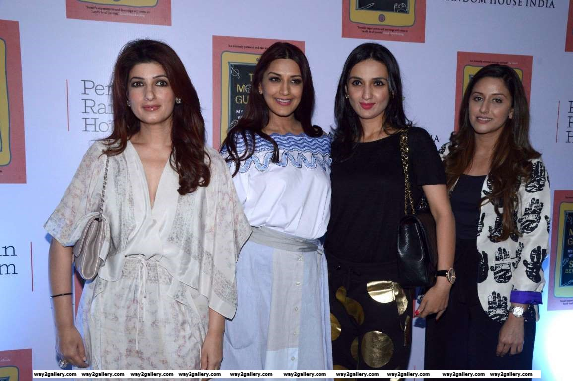 Twinkle Khanna descended at the success bash of Sonali Bendres book The Modern Gurukul  My Experiments with Parenting