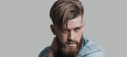 Comb over male side-split hairstyle trends