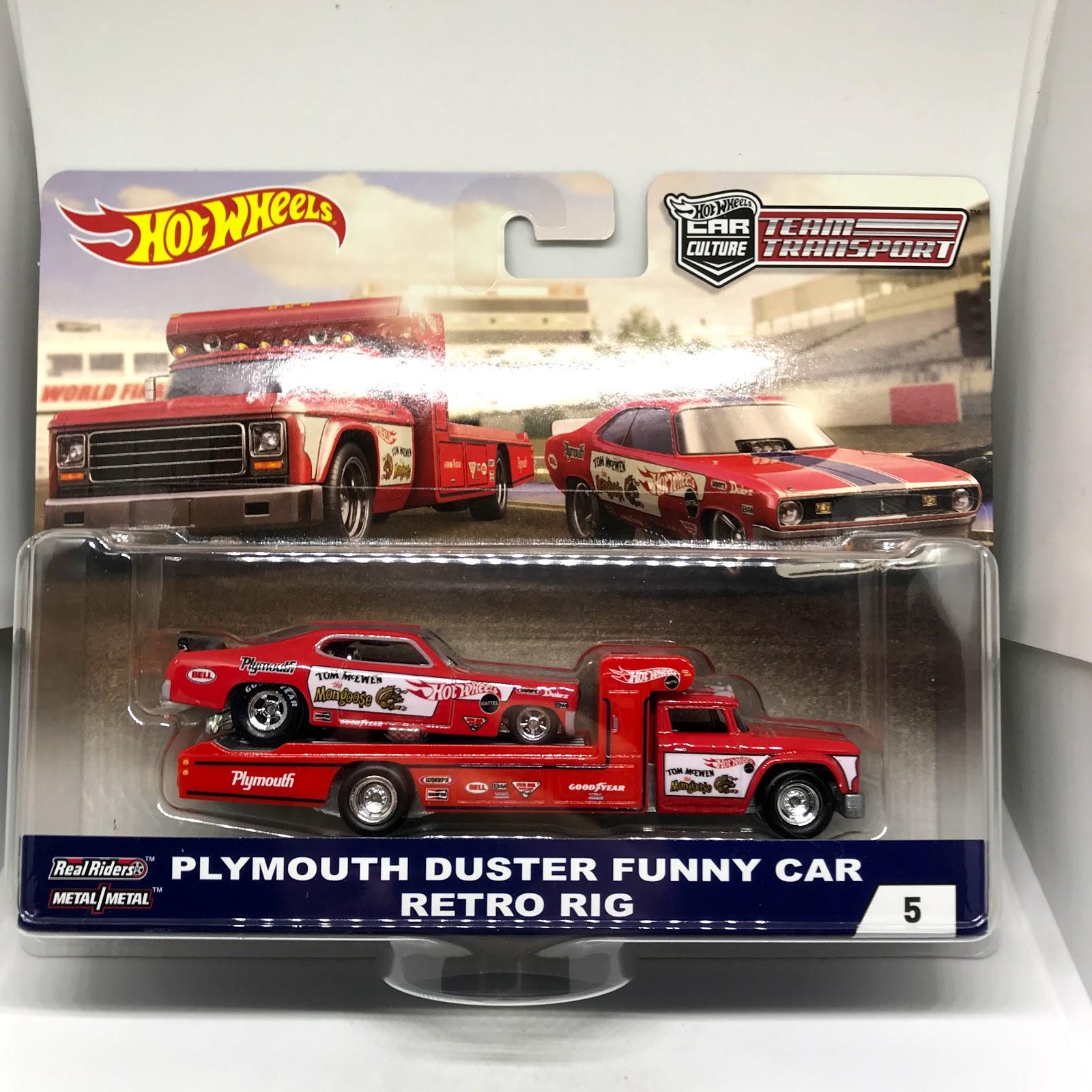 Hot Wheels Team Transport Plymouth Duster Funny Car Retro Rig  #5