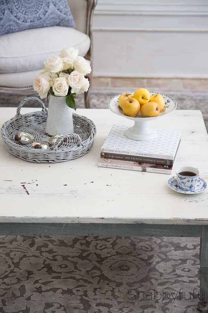grey wicker tray french compote