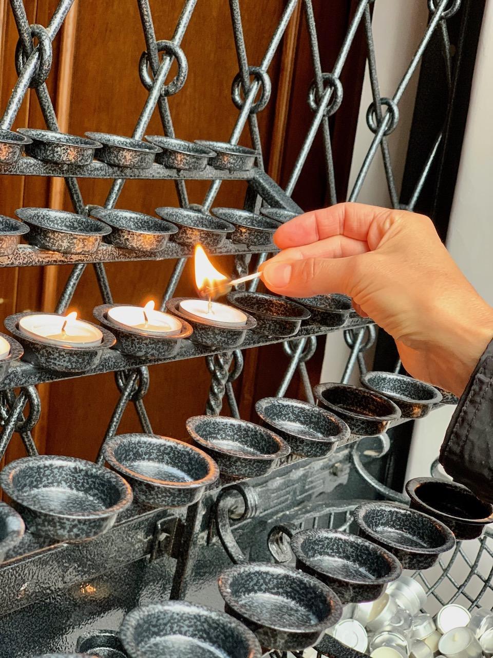 Žvakutės Birštono bažnyčioje