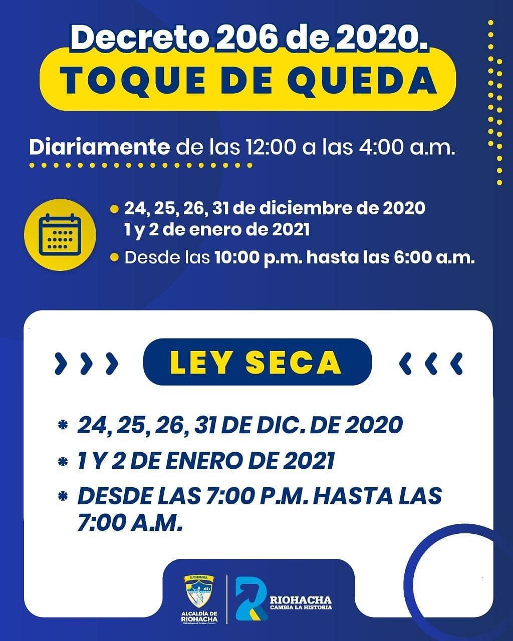 https://www.notasrosas.com/Pico y Cédula, Ley Seca y Toque De Queda, en Riohacha