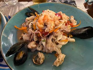 Seafood salad - Al Gabbiano (Portovenere)