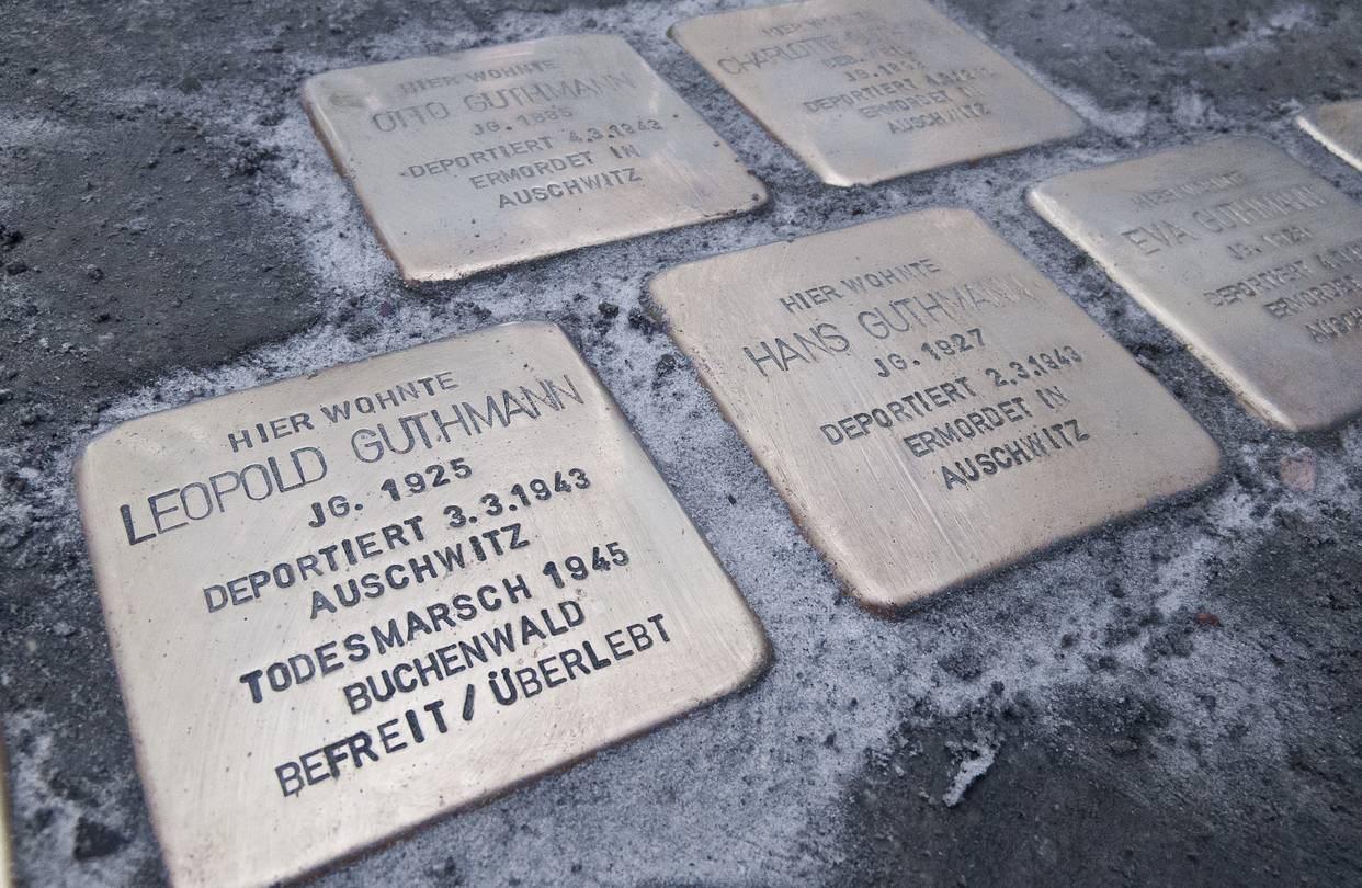 john brown s notes and essays can the holocaust be explained image from article caption stolpersteine stumbling stones embedded in berlin sidewalks to memorialize individual jews killed in the holocaust
