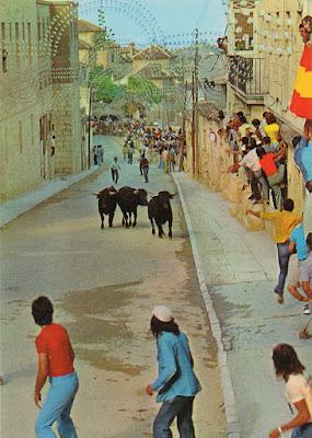 postal, Chinchón, encierro