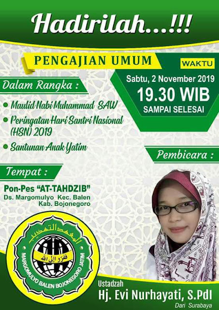 Contoh Pamflet Acara Wahidiyah