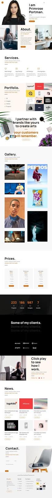 Portfolio for Designers & Freelancers Template