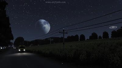 Langit Malam Astrofotografi Asli - ETS2 v1.41