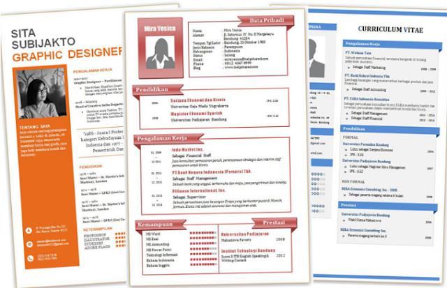 download template cv word doc desain menarik terbaru 2019