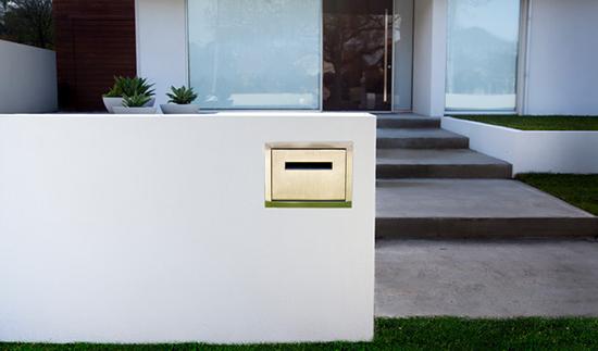 gambar Kotak surat minimalis pagar rumah
