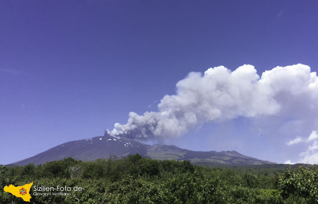 Vulkan Ätna Vulkanausbruch vom 18. Mai 2016