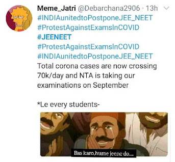 NEET-JEE 2020 Postponement Memes