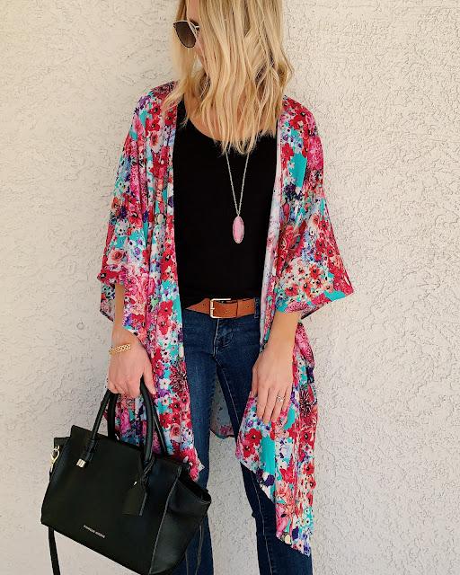 Floral kimono