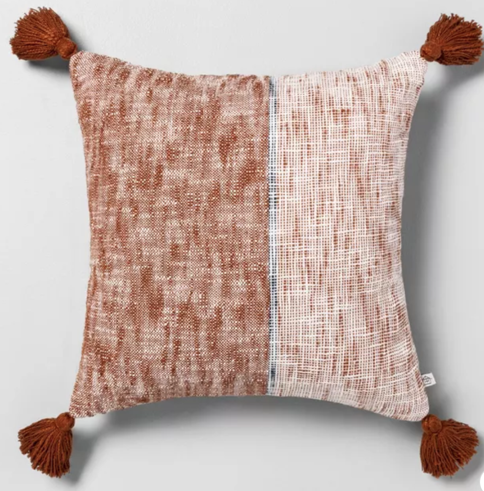 Warm color pillows for fall