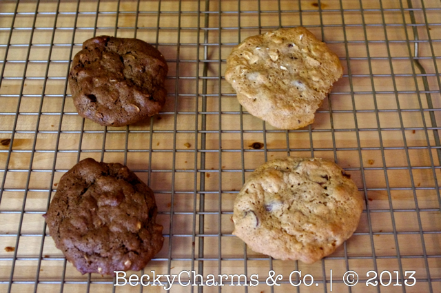 Flourless|{Butterless} Chewy Walnut Butter Brownie Cookies  by BeckyCharms