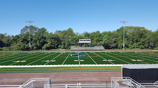 the new turf is being installed at Franklin High School