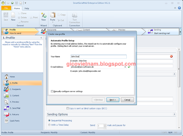 Phần mềm smart serial mail