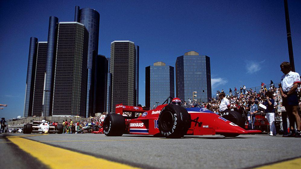 F1 rugiu através de Motor City para uma exaustiva série de Grandes Prêmios em Detroit de 1982-1988