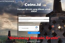 Cara Dapatkan Giveaway Bitcoin Gratis dari Coins.id