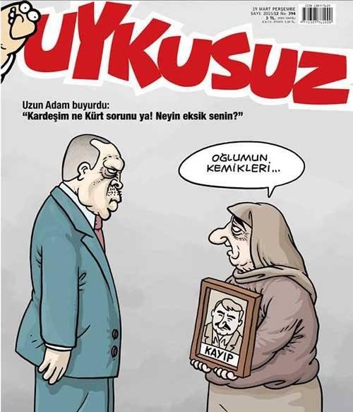 Uykusuz Dergisi - 19 Mart 2015 Kapak Karikatürü