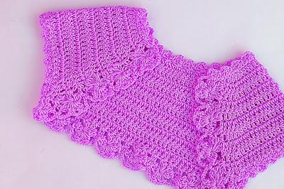 6 -Crochet Imagen Lindo bolero a crochet y ganchillo muy fácil y sencillo por Majovel Crochet.