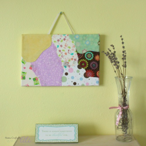 Scrap Fabric Wall Art Tutorial by Home Crafts by Ali
