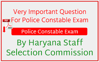 Police Constable Exam By Haryana Staff Selection Commission