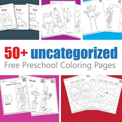 different free preschool coloring pages sets , mother day,father day, washing hand, dental care, animals