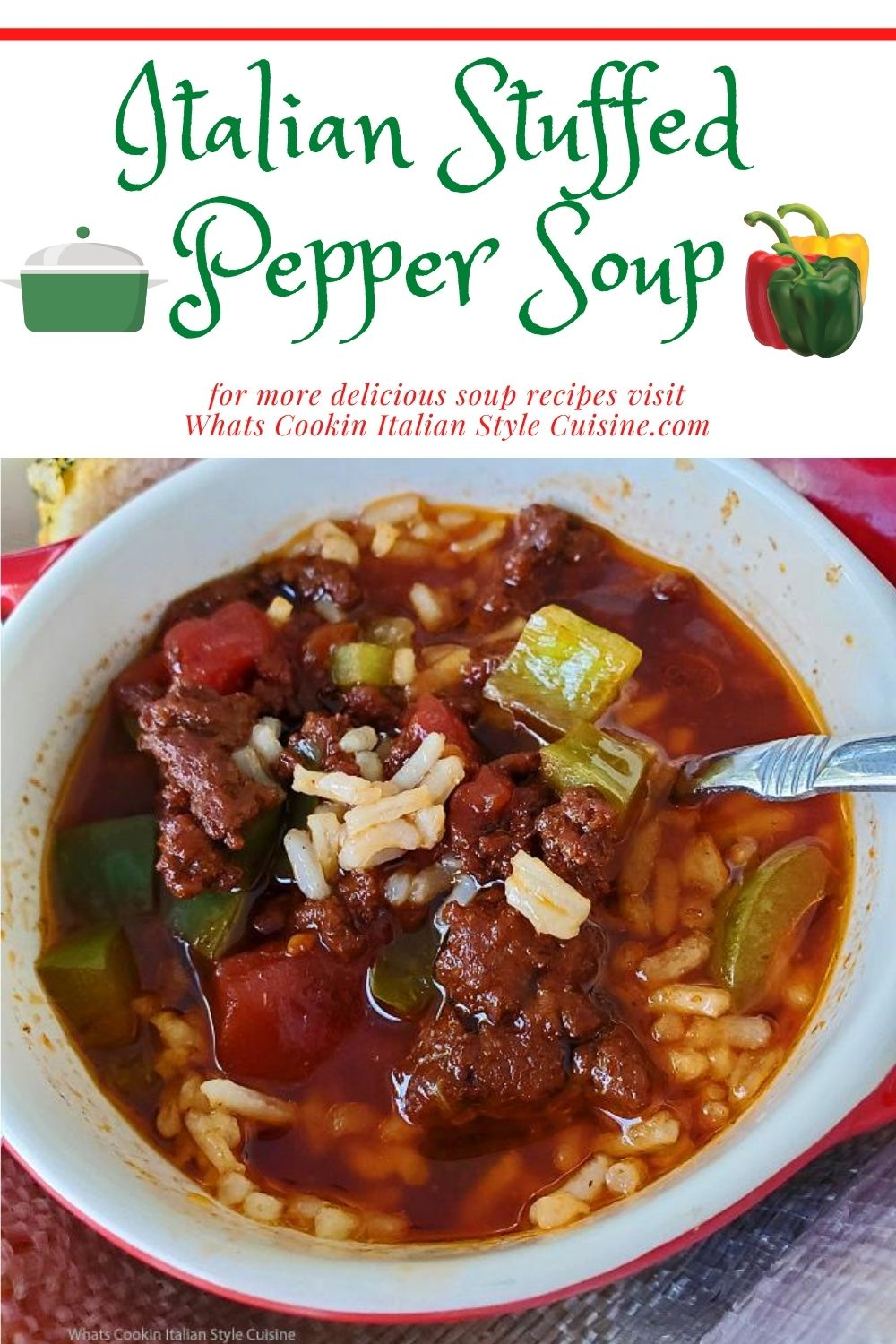 this is a pin for later on how to make stuffed pepper soup