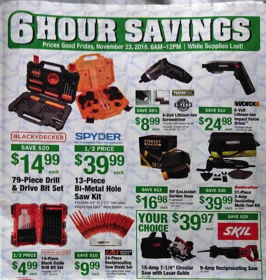 Menards Friday tools 2018 ad