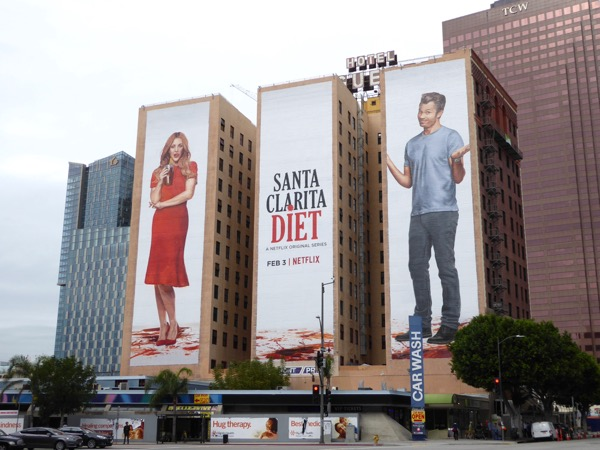 Giant Santa Clarita Diet season 1 billboards DTLA