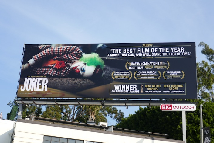 Joker Golden Globes winner billboard
